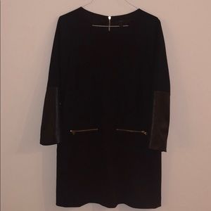 J. Crew Dress with Faux Leather on Sleeve